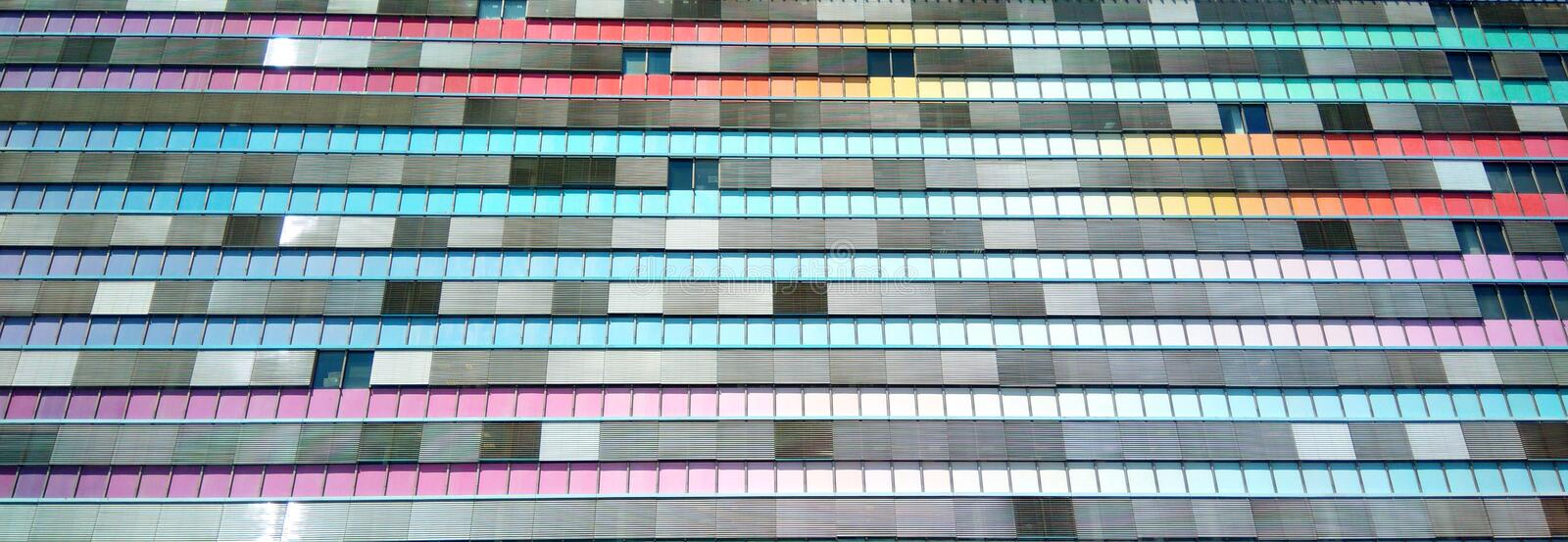 Colored Building. Colored office building in Prague royalty free stock image