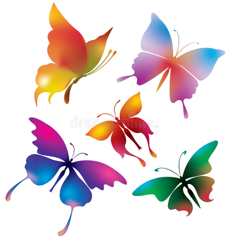 Download Colored Butterflies Royalty Free Stock Image - Image: 15385486