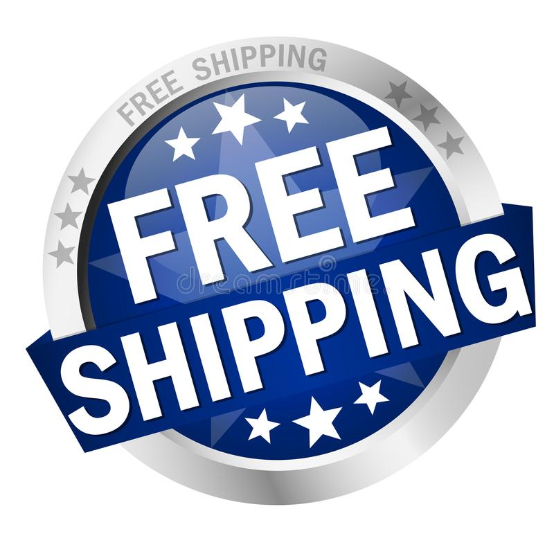 Button Free Shipping stock illustration