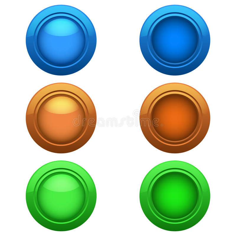Download Colored buttons set stock illustration. Image of circle - 33326310