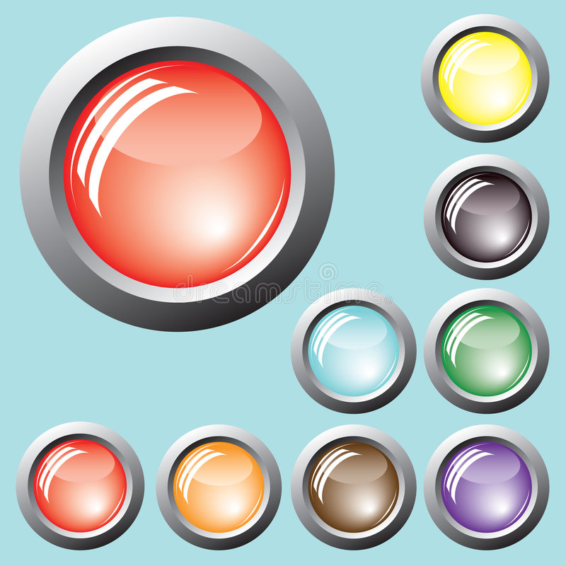 Free Colored Buttons. Vector. Stock Photography - 7352722