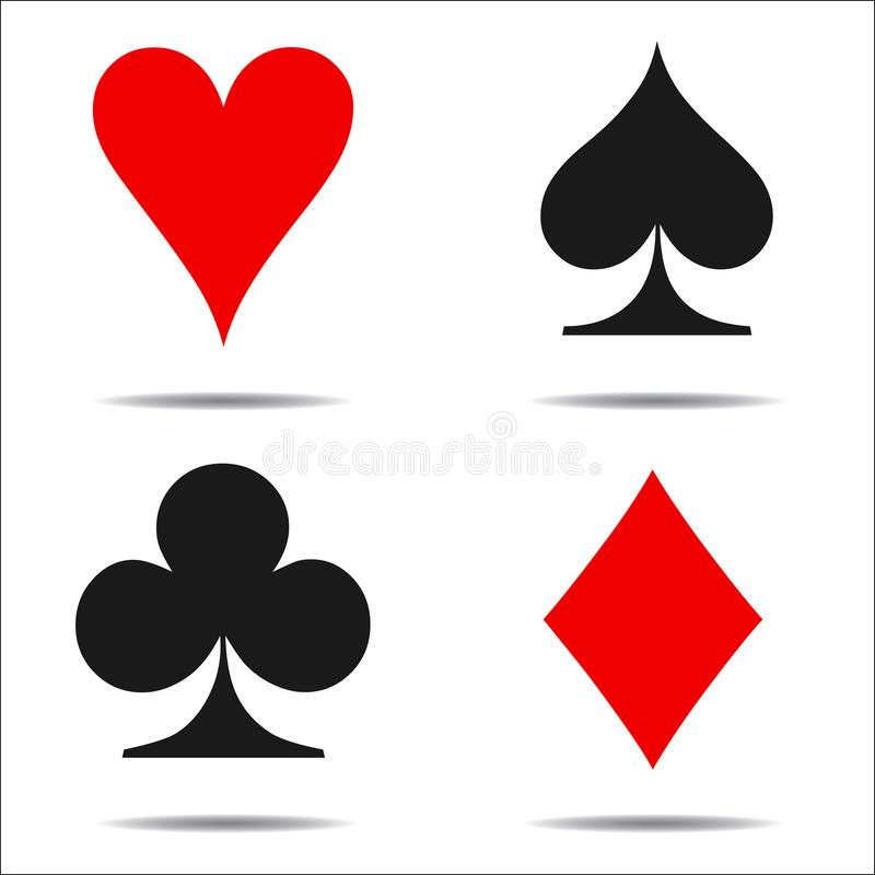 colored card suit icon vector playing cards symbols vector stock rh dreamstime com vector playing cards download vector playing cards sourceforge