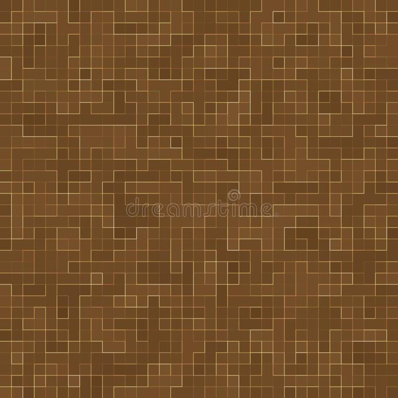 Colored ceramic stones. Abstract Smooth Brown Mosiac Texture abstract ceramic mosaic adorned building. Abstract Seamless royalty free illustration