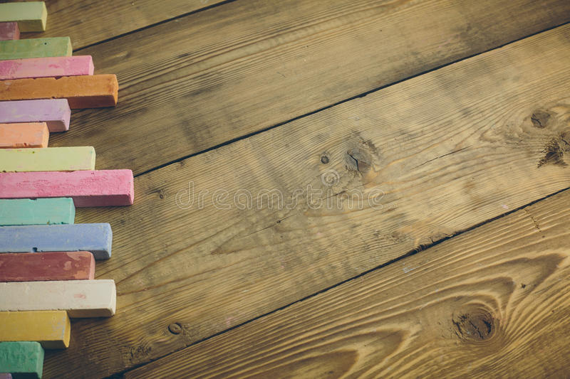 chalk with words back to school royalty free stock photography