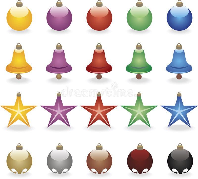 Download Colored Christmas balls stock vector. Image of postcard - 3452658