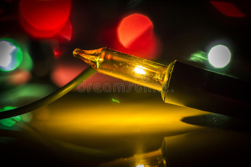 Colored Christmas lights. Close-up as an abstraction royalty free stock photos