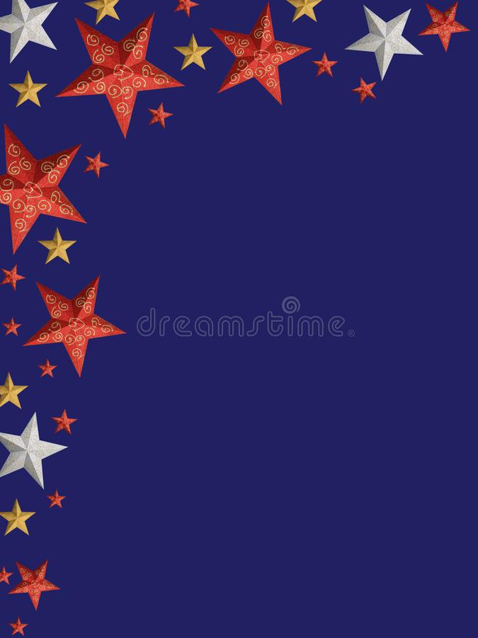 Colored Christmas stars - isolated royalty free stock photos