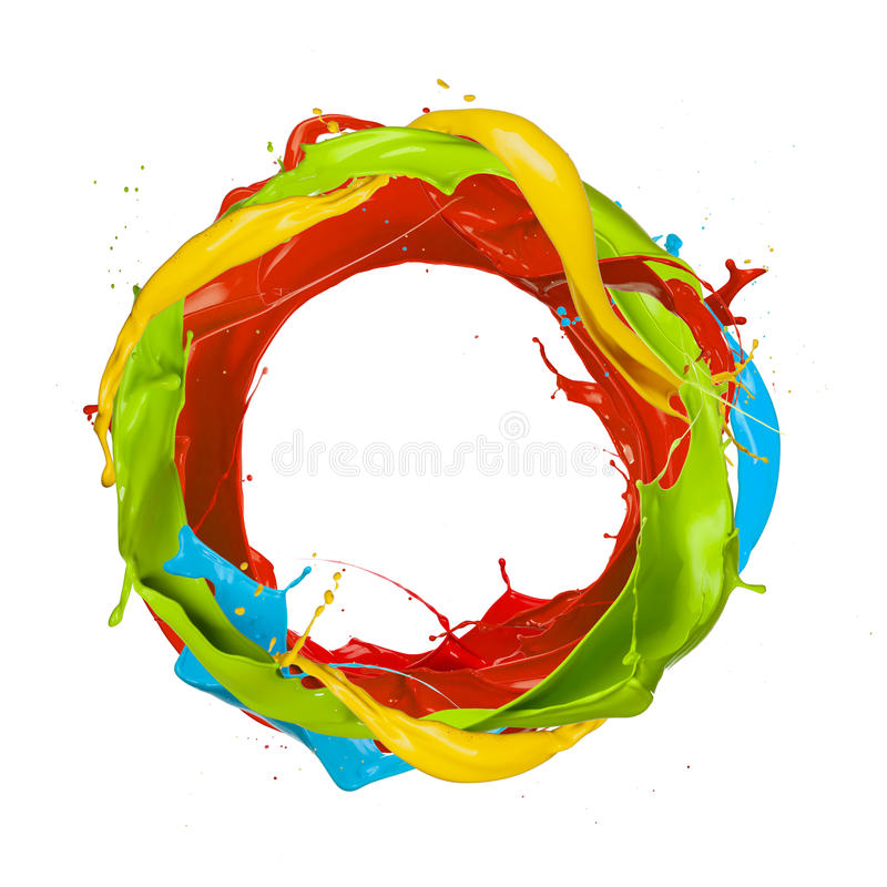 Colored circle vector illustration