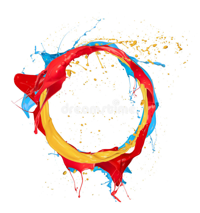 Colored circle stock photography