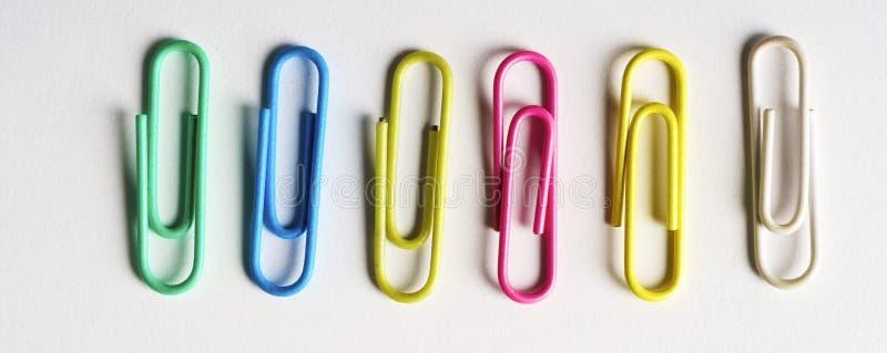Colored clip stock photo