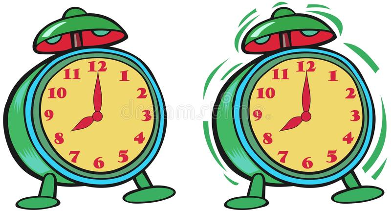 Colored Clock Royalty Free Stock Photos