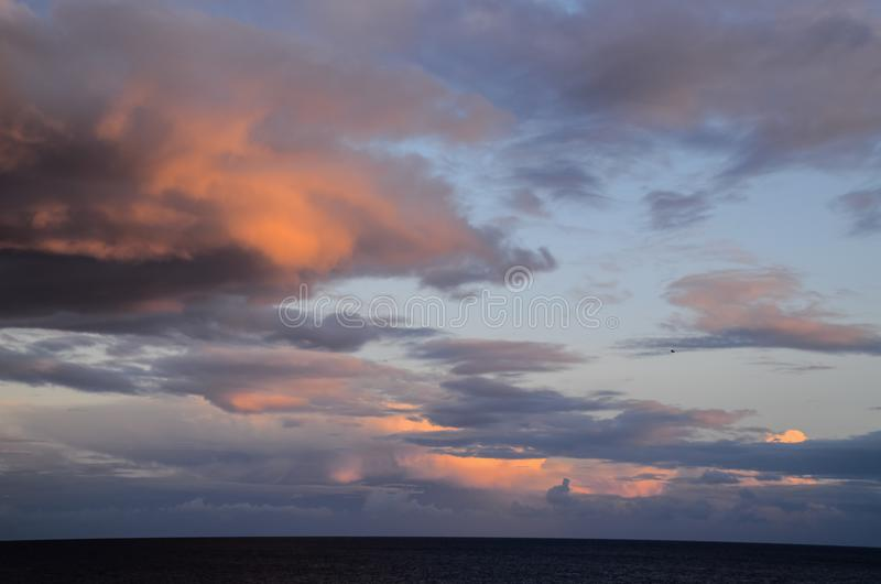 Colored Clouds at Sunset royalty free stock photo