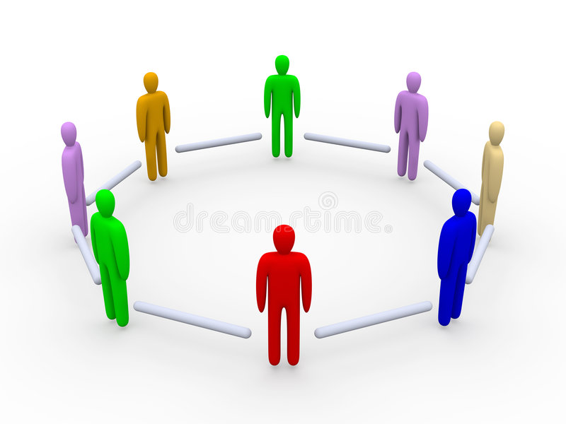 Colored Community Stock Photography