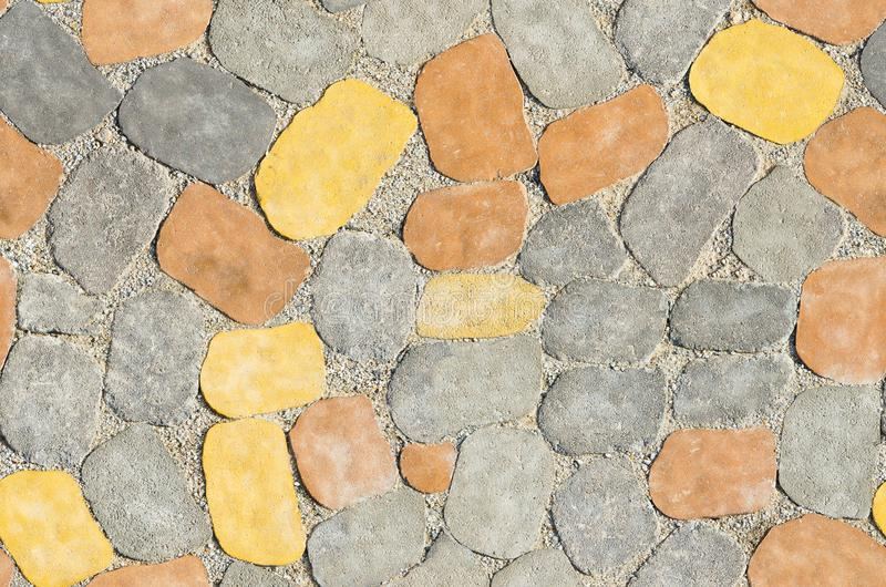 Colored concrete paving tiles, seamless texture royalty free stock photography