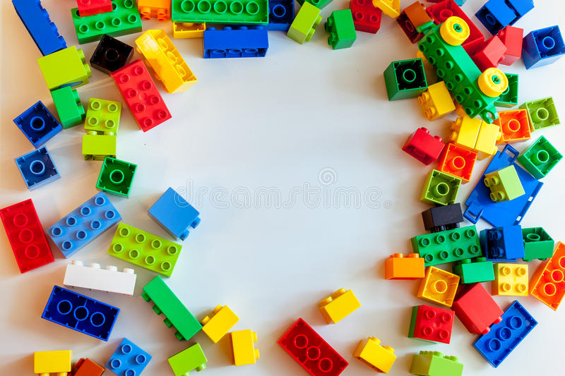 Colored constructor on white background royalty free stock photography