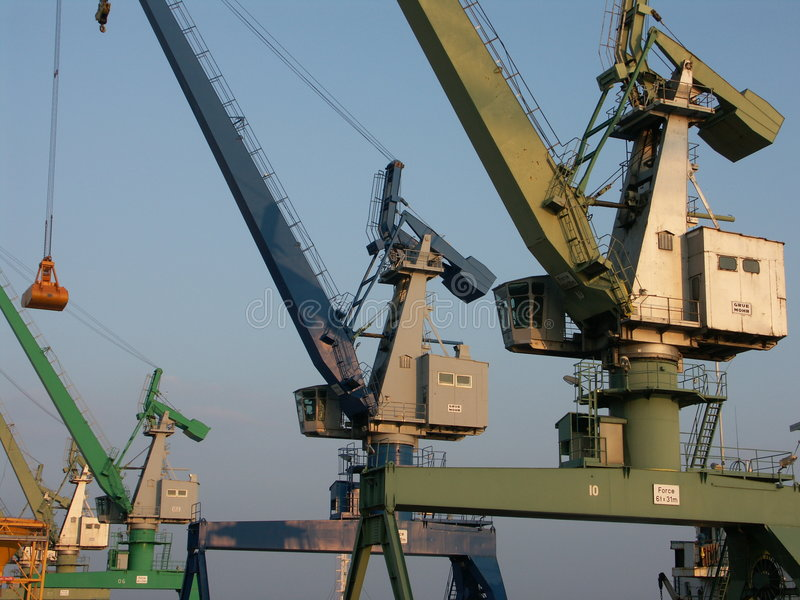 Download Colored cranes 1 stock image. Image of shipyard, loading - 95567