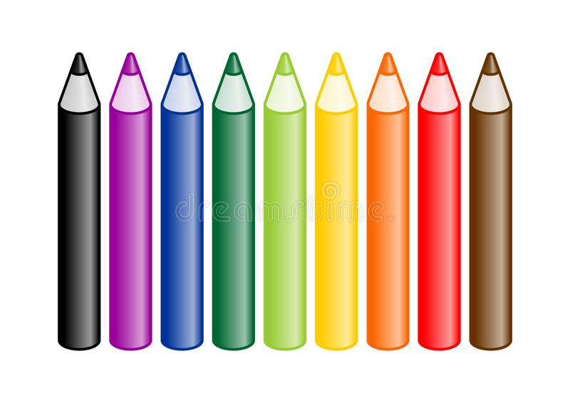 Download Colored Crayons stock illustration. Image of colored - 10577439