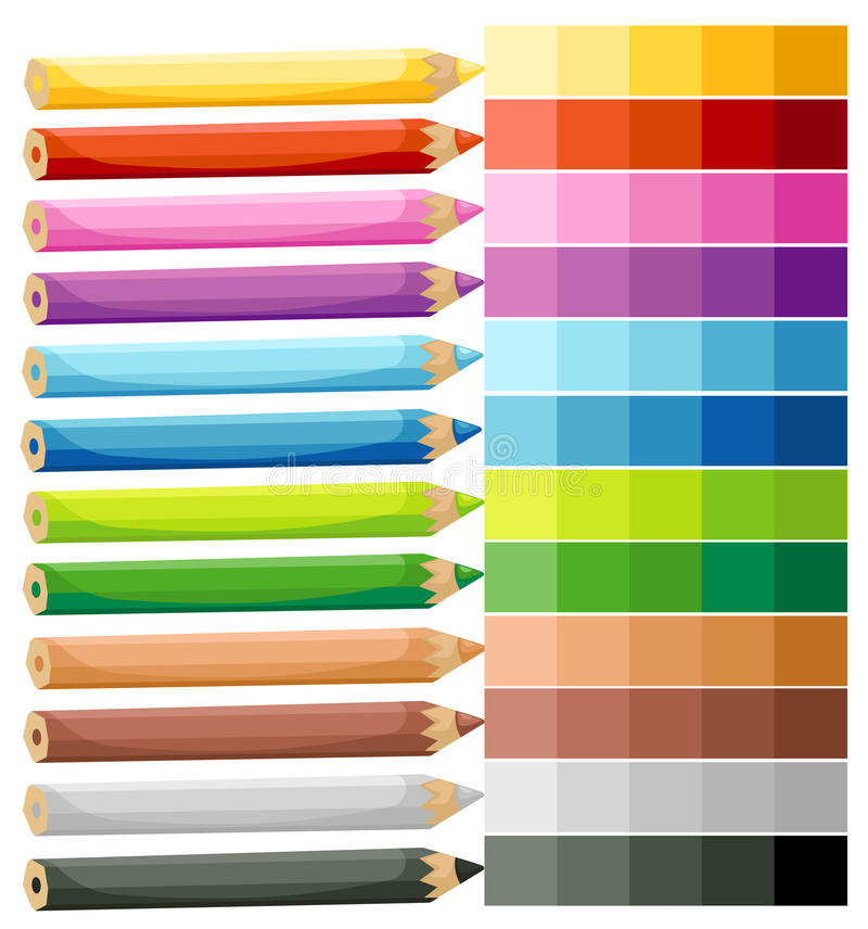 Download Colored Crayons stock vector. Image of shape, black, vector - 28104910