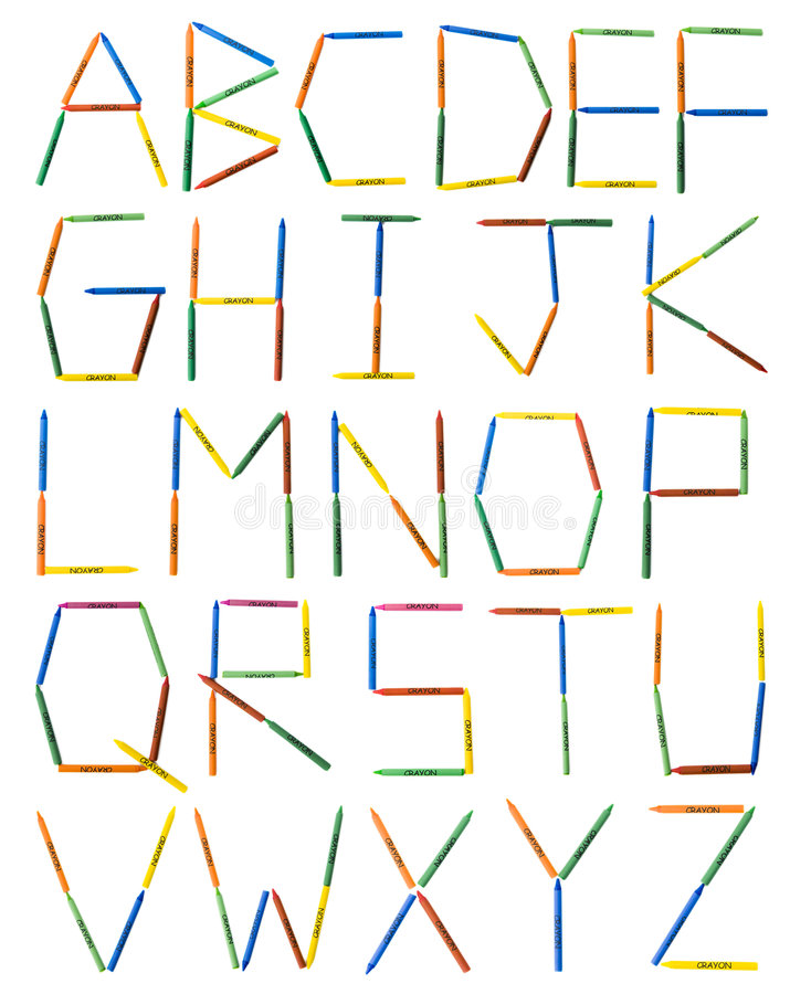 Download Colored Crayons Alphabet stock image. Image of font, blue - 701767