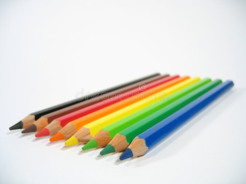Colored Crayons III royalty free stock photo