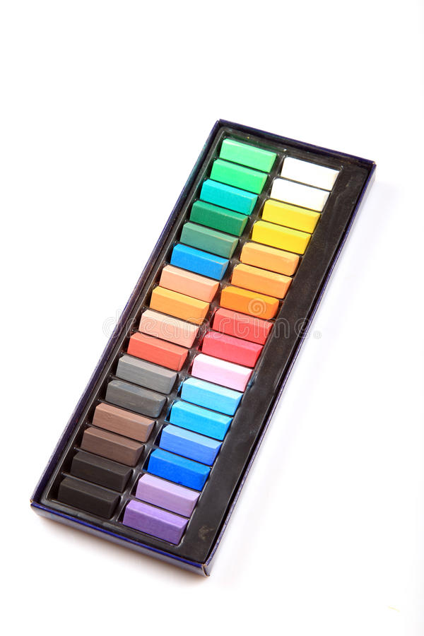 Download Colored crayons set stock photo. Image of white, material - 18446366