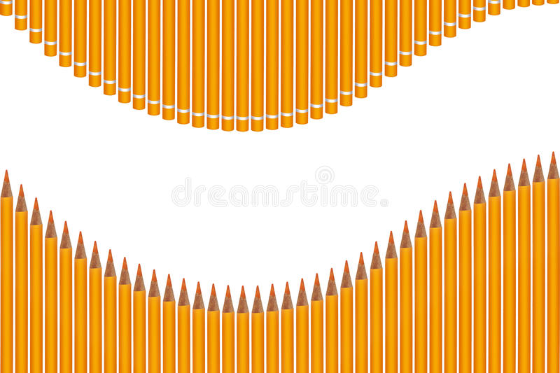 Colored crayons wave royalty free stock image