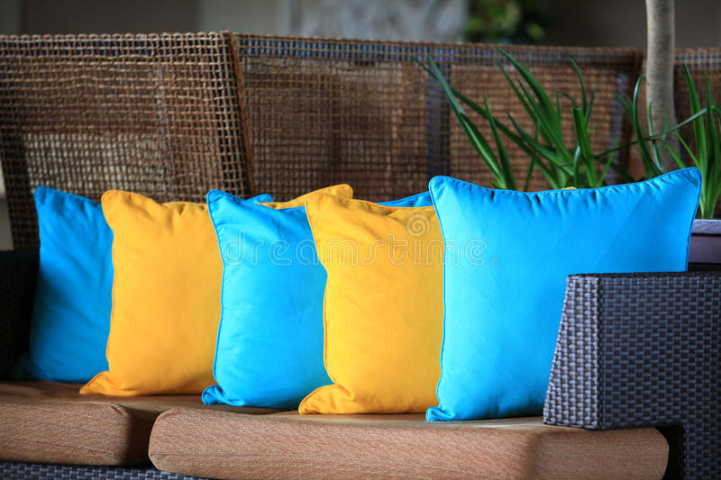 Download Colored cushions stock image. Image of blue, colored - 27154525