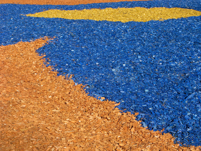 Colored decorative woodchips royalty free stock image