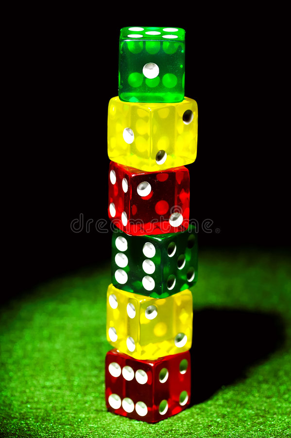 Colored Dice Royalty Free Stock Photos