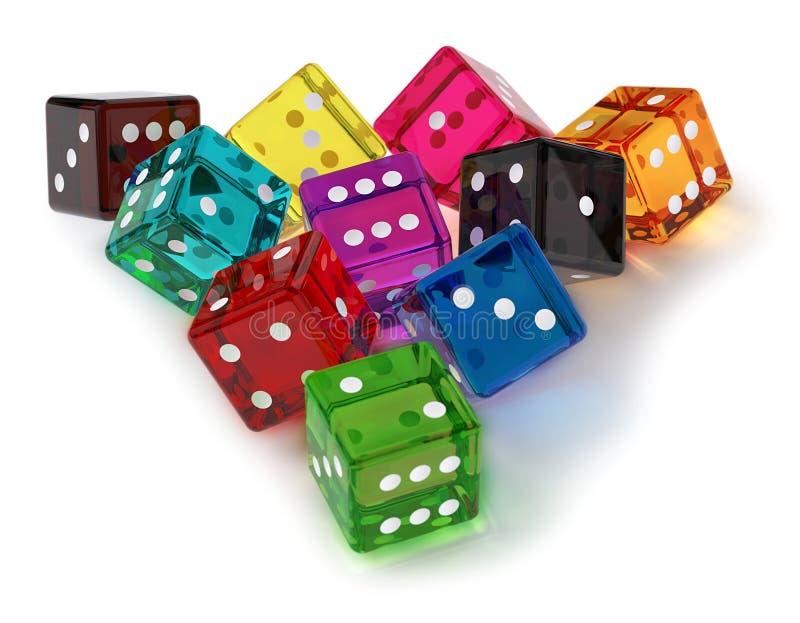 Download Colored dices stock illustration. Image of blackjack - 21230042