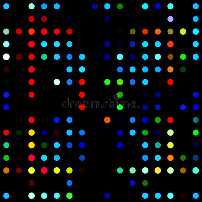 Colored Dot Mosaic Royalty Free Stock Images