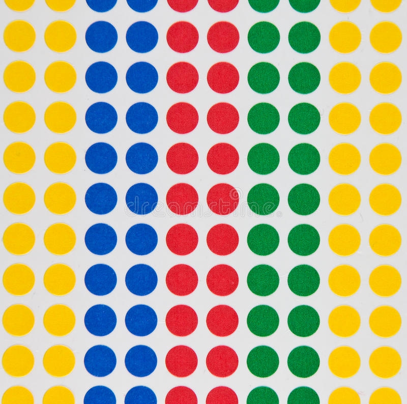 Download Colored dots stock image. Image of labels, colors, colours - 14538135