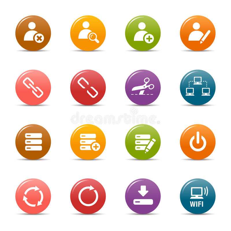 Colored dots - Classic Web Icons royalty free illustration