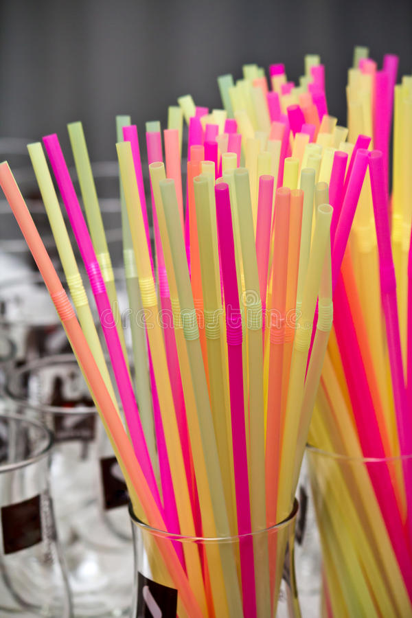 Download Colored drinking straws stock illustration. Image of swallow - 22555994