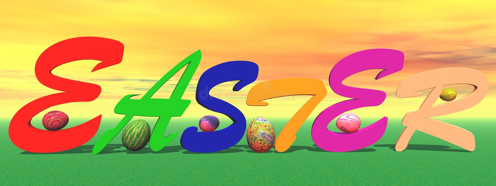 Colored easter vector illustration