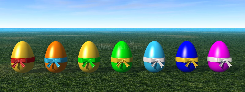 Download Colored easter eggs stock illustration. Image of illustration - 3900926