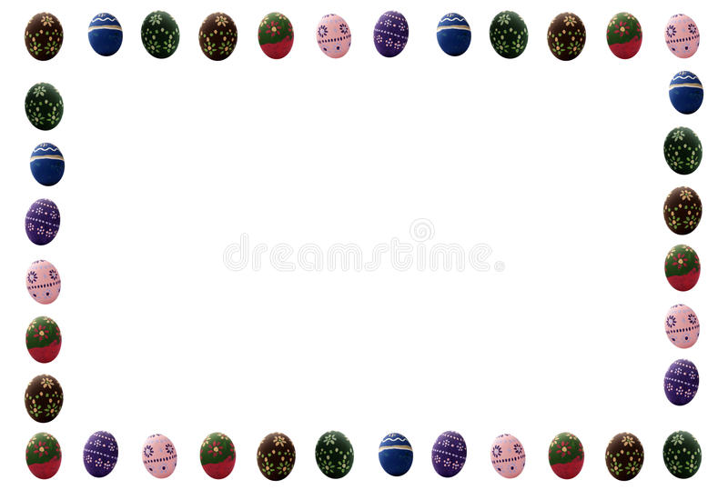 Download Colored Easter eggs frame stock photo. Image of background - 26612746