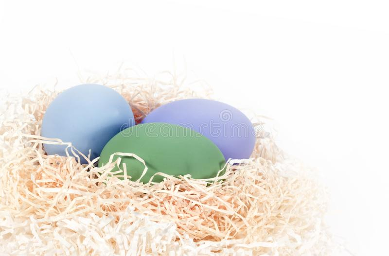 Download Colored Eggs in Nest stock image. Image of easter, green - 13854461