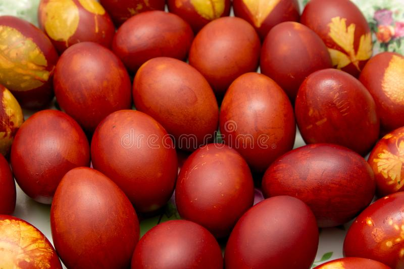 Colored eggs on Orthodox Easter. Photo of an abstract texture royalty free stock photography
