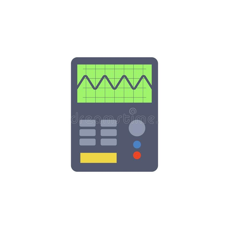 colored electric measuring instrument icon. Element of science and laboratory for mobile concept and web apps. Detailed electric m royalty free illustration