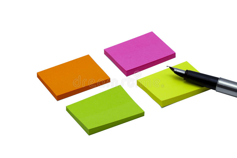 Download Colored Empty Notes Stock Photo - Image: 83700327