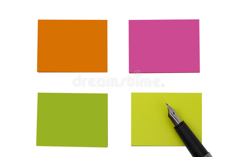 Download Colored empty notes stock photo. Image of smart, blank - 83700784