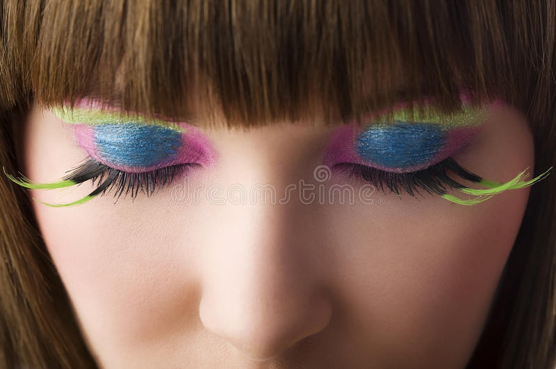 Colored eyes stock images