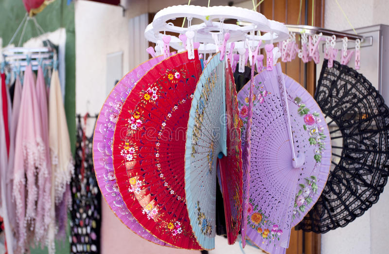 Download Colored fans stock photo. Image of craft, comfortable - 26476828