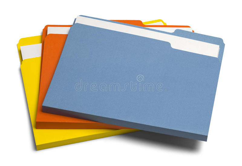 Colored Files Pile royalty free stock photos