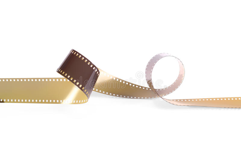 Colored film for the analog camera. Isolated. Empty colored film from the analog camera on a white background. It is isolated, the worker of paths is present royalty free stock images