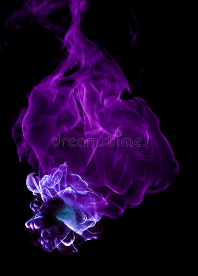Colored Fire on Black stock image