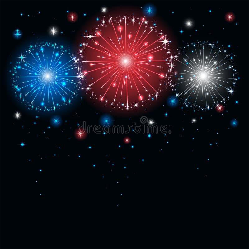 Colored firework vector illustration
