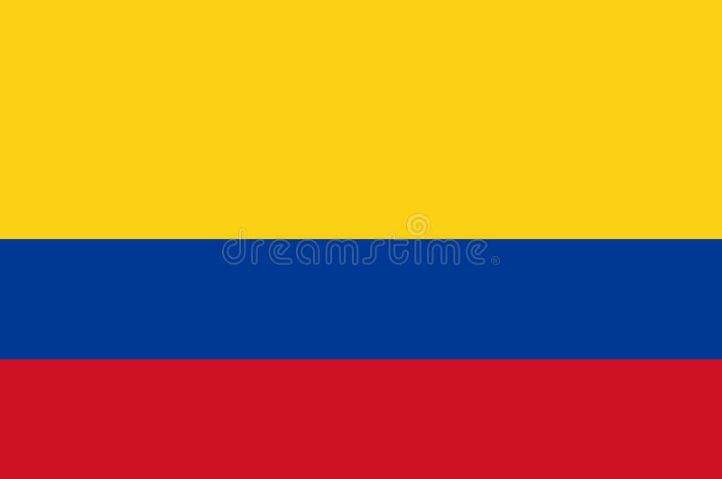 Colored flag of Colombia royalty free illustration