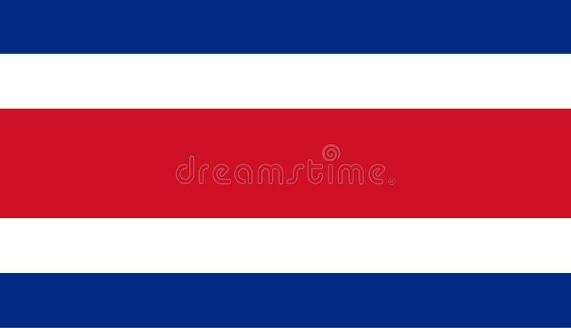 Colored flag of Costa Rica. Detailed and accurate illustration of colored flag of Costa Rica vector illustration